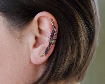 Bohemian ear cuff * Statement ear cuffs * Fantasy earring * Elegant earcuff * No piercing ear cuff * Cartilage cuff * Ear wrap * Fake cuff