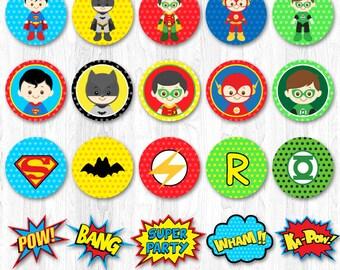 Superhero Cupcake Toppers, Superhero Cupcake Wrappers, Superman Cupcake Topper