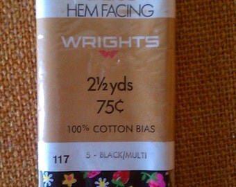 Wright's Calico Hem Facing, Cotton Bias, Sewing Supplies, Sewing Notions, Strawberry fields, hem facing, cotton trim, sewing, craft supplies
