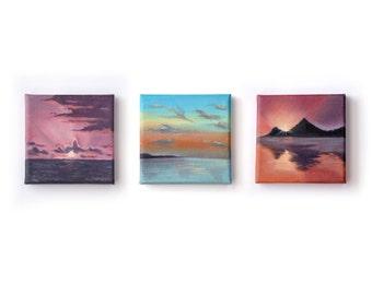 Mini Sunsets - Oil on canvas