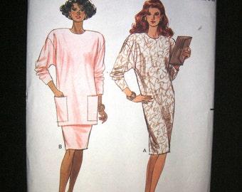UNCUT 1980s size 6-8-10-12-14 Butterick 3001 Dress or Skirt Set Pattern