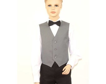 Kids Silver Full Back Dress Vest