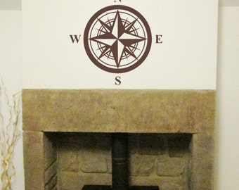 Wall Art Sticker / Wall Decal Compass H619K