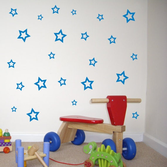 60 hyper star wall stickers wall decals sk041x