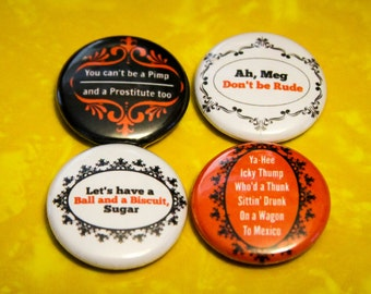 "White Stripes Multi Pack Set of 4 - 1"" Pinback Buttons"