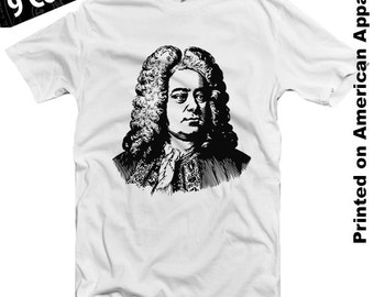 Handel American Apparel T-shirt S-XXL Classical Music, Beethoven, Chopin, Liszt, Bach, Tchaikovsky, Piano, Violin, Sonata, Genius, Cool Gift