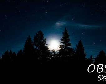 Stars in the Moonlit Night Sky - Fine Art Photographic Print / Gallery Wrap