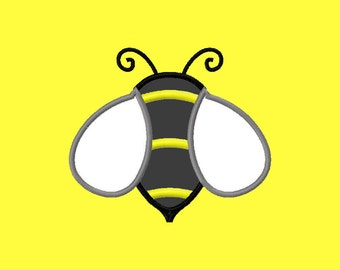Cute Bumble Bee Machine Applique Embroidery Design Sizes 4x4 5x7 6x10 8x12 Instant Download