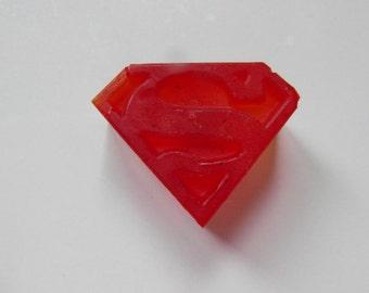 Two Superman Logo Soaps