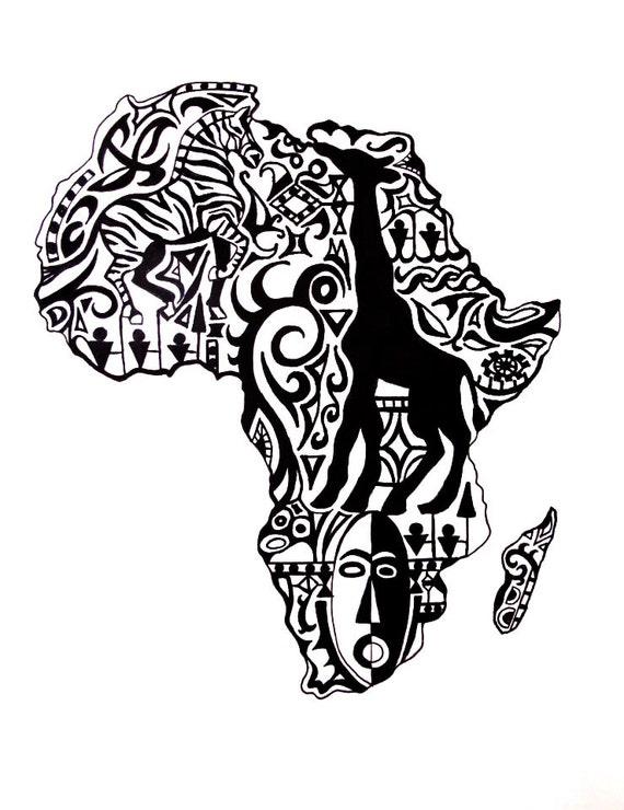 Articles Similaires 224 Carte De Stylo Tribal D Afrique