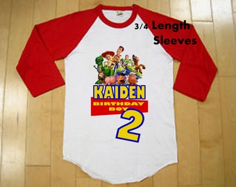 Toy Story Birthday Shirt - Boys Toy Story Birthday Shirt - Raglan Available