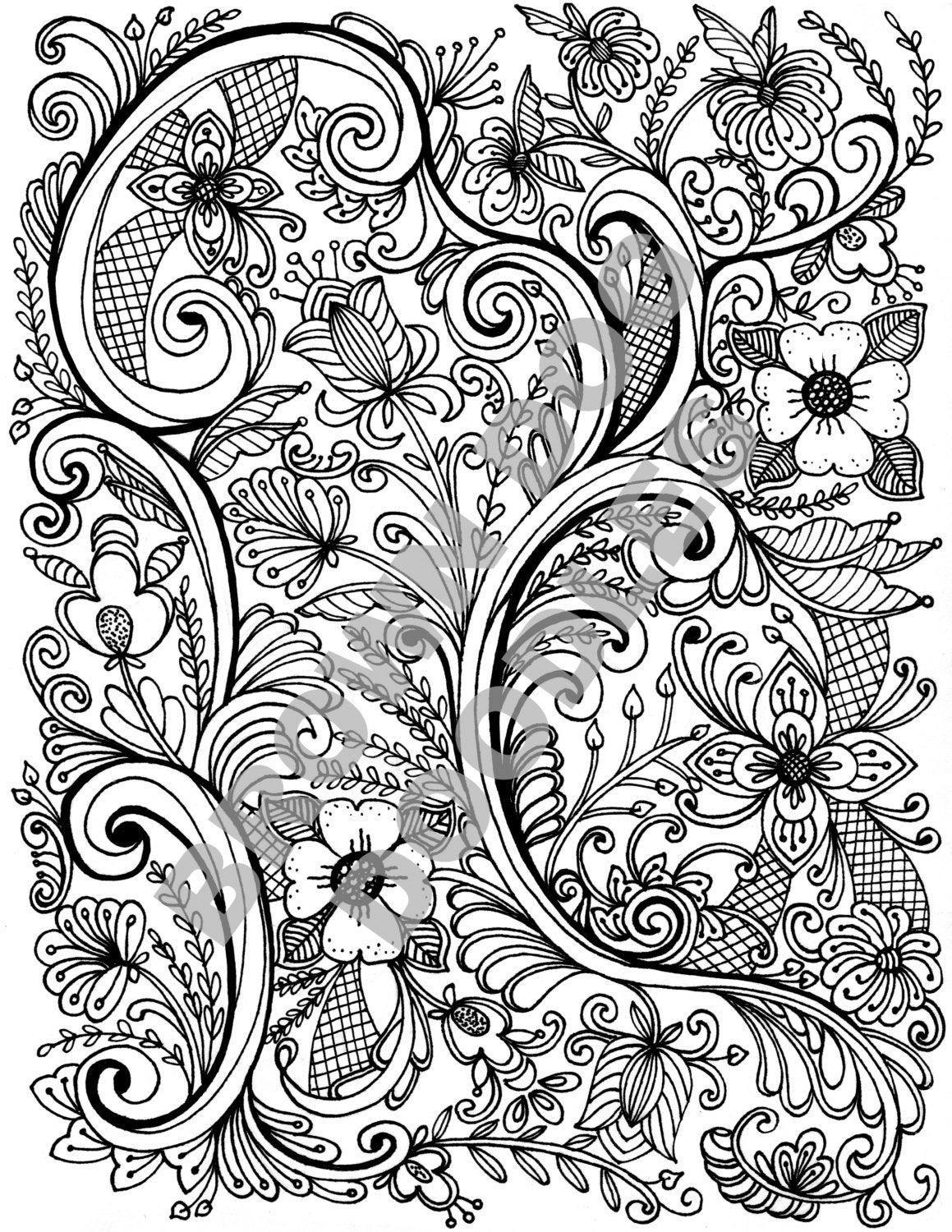 Rosemaling Coloring Pages