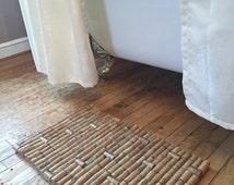 Unique door mat related items etsy for Wine cork welcome mat