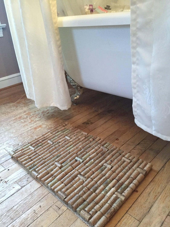 Cork welcome bath kitchen bar mat for Wine cork welcome mat
