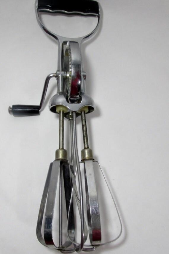 Manual Hand Mixer ~ Vintage superwhirl manual hand held mixer egg beater