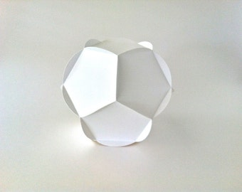 SVG: Dodecahedron, 3D cutting file, fun diecut paper project, geometric