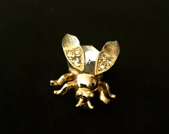 Vintage Gold Bumble Bee with Movable Wings                   VG1130