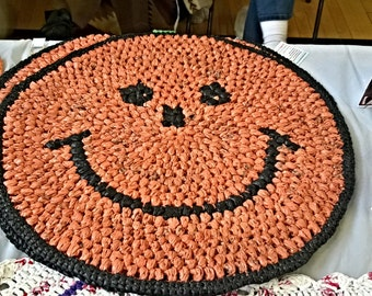Recycled Smiley face rug