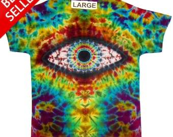 Free Shipping - Handmade Eye Tie Dye Shirt