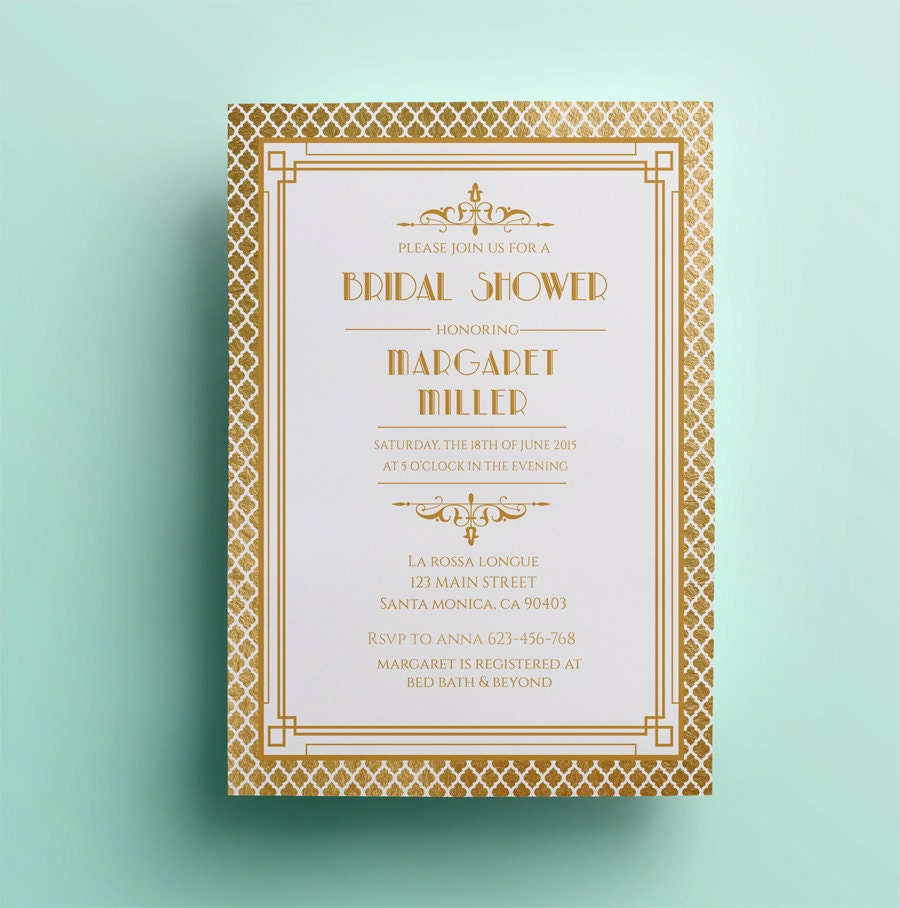 Deco bridal shower great gatsby 28 images deco bridal shower shower invitation template printable bridal deco filmwisefo