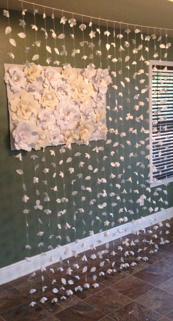 anthropologie inspired paper flower curtain by