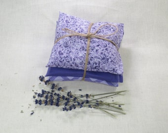 Set of 3 Rustic Lavender Pillows