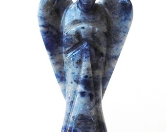 Crystal Sodalite Guardian Angel Natural Hand Carved Gift