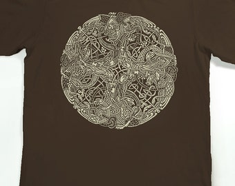 Celtic T-shirt - Men's Book of Kells Shirt - Celtic Knot - graphic t shirt