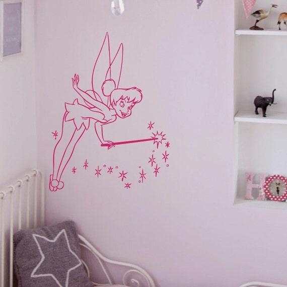 Disney Nursery Wall Decor : Tinkerbell wall vinyl decals disney princess by fabwalldecals