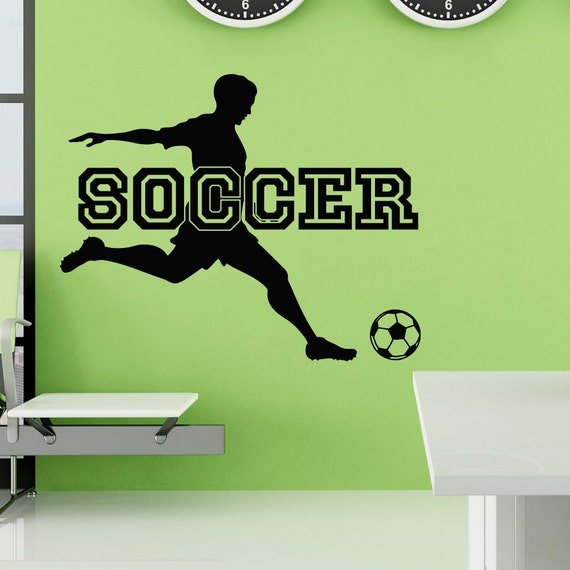 soccer wall decal sports man football player sport gym wall decals