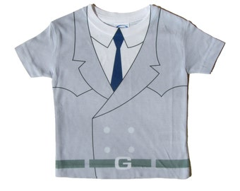Child Costume T-Shirt Parody Inspired by Inspector Gadget - Children, Toddler, Kid Tee, Cosplay, Retro, 80s Cartoon, Cool Kids' Clothes