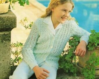 Knitting Pattern PDF Girls Cardigan