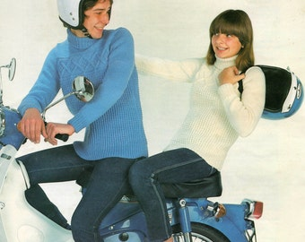 Vintage Knitting Pattern Aran Child's Sweater