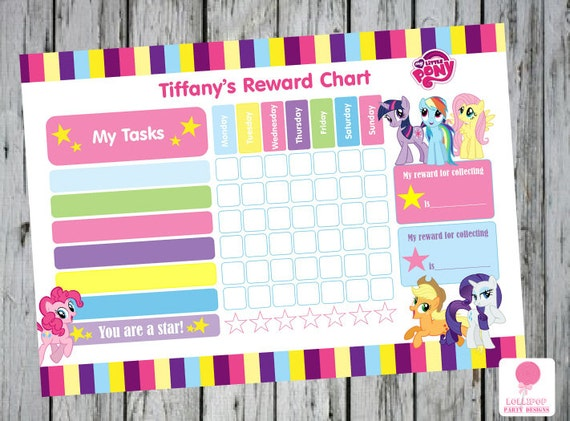 My Little Pony Printable Responsibility Chart