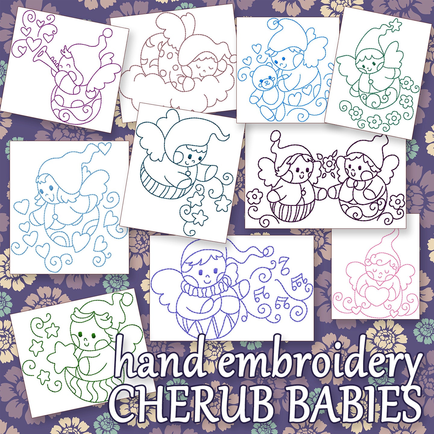 Sale hand embroidery patterns redwork designs adorable