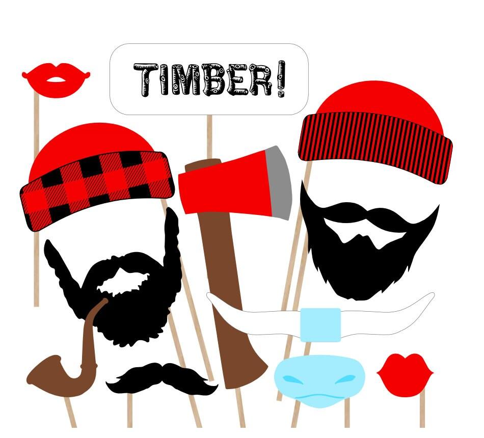 lumberjack printable photo booth props lumberjack photobooth Lumberjack Clip Art paul bunyan clipart