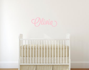 Name Wall Decal / Nursery Wall Sticker / Personalized Vinyl Wall Lettering / Home Decor / Custom