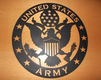 Army Emblem laser cut silhouette
