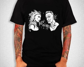 Die Antwoord, ZEF Black T-Shirt from an ORIGINAL Ink Drawing, Sizes: S,M,L,XL