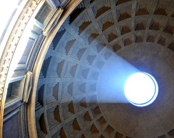 Pantheon Ceiling Photo - Rome, Italy Photgraphy Italian Photo Italy Photo Pantheon Photo Print