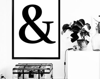 "Black Ampersand ""&"" digital wall art"