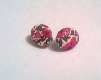 Small Liberty Button Earrings