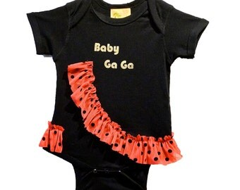 Baby GaGa onesie Rocker baby shower gift infant girls children clothing