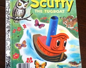 Scuffy the Tugboat, by Gertrude Crampton, Little Golden Book, with pictures by Tibor Gergely,