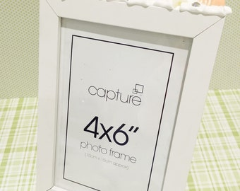 Kawaii Decoden White 4x6 Photo Picture Frame - by Ruby and Ringo's
