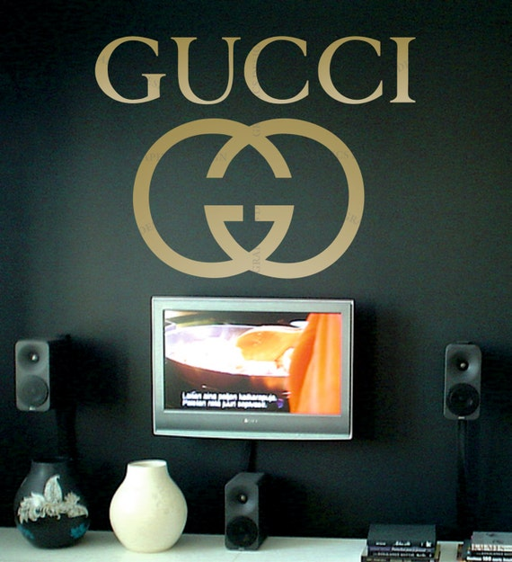 Gucci Decorative Vinyl Wall Sticker Decal By Stickersdesign