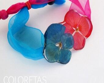 Hydrangea flowers Bracelet