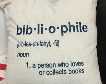 Book Lover's Pillow - Bibliophile Definition