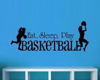 Eat Sleep Play Basketball: Girls #4