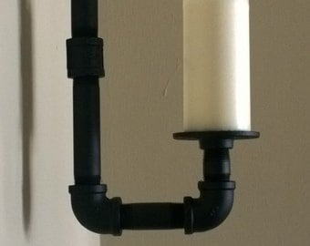 SteamPunk Style Wall Sconce Candle Holder
